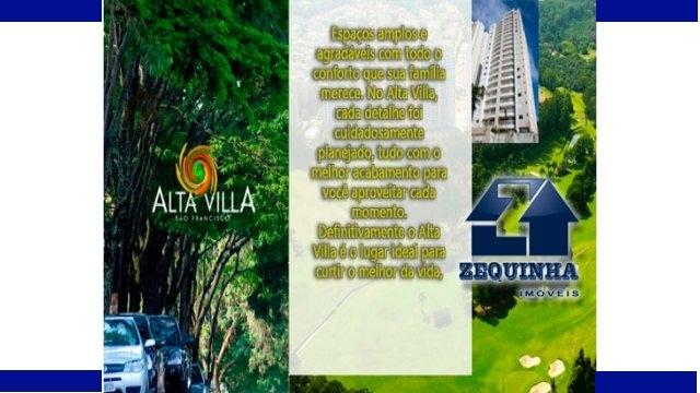 Cond ALTA VILLA - S�o Francisco - AU115m -Conforto e Sofistica��o.