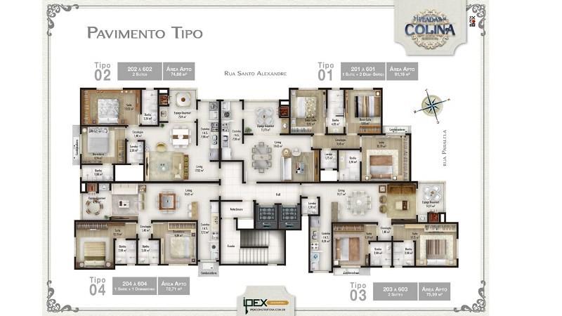 Planta dos Apartamentos