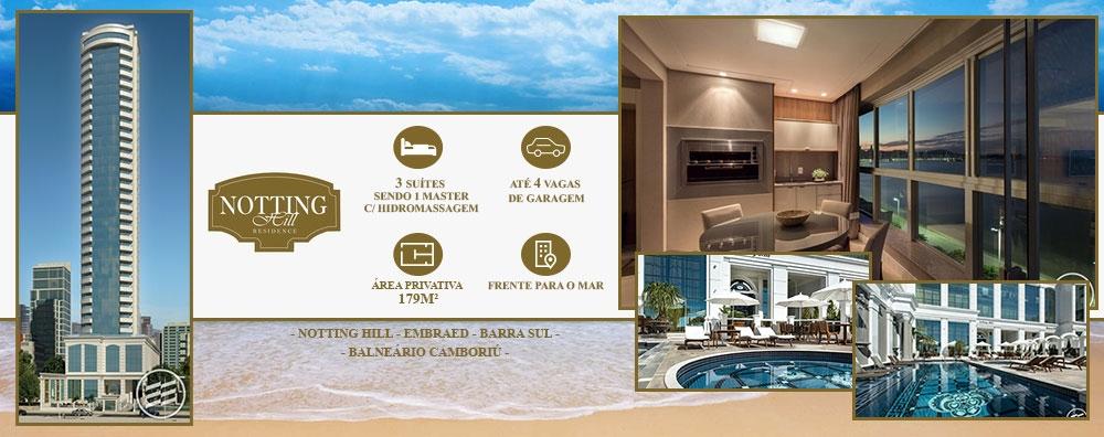 Ótimo apartamento frente mar com 3 suítes em Balneário Camboriú